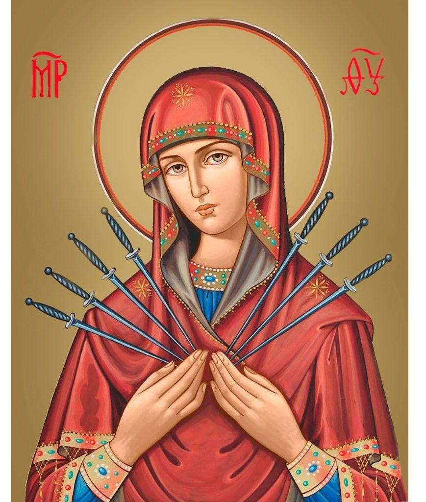 Молитва Семистрельной Божьей Матери «Умягчение злых сердец» текст на русском